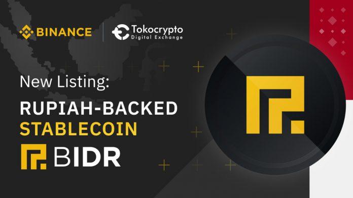 Binance dan Tokocrypto Perdagangkan BIDR