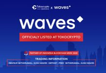 Tokocrypto Perdagangkan Waves Token