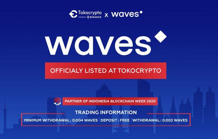 Tokocrypto Perdagangkan Waves Token
