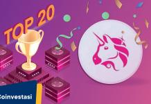UNI menjadi 20 token defi teratas