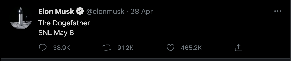tweet dogecoin elon musk 2