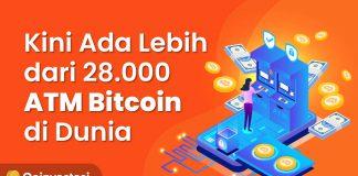Adopsi Kripto Meningkat, Kini Ada Lebih dari 28.000 ATM Bitcoin di Dunia